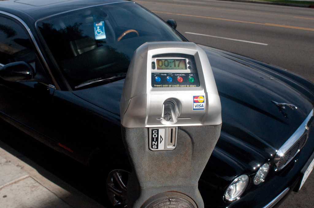 Beverly Hills: retro-fitted solar, credit card and coin parking meter