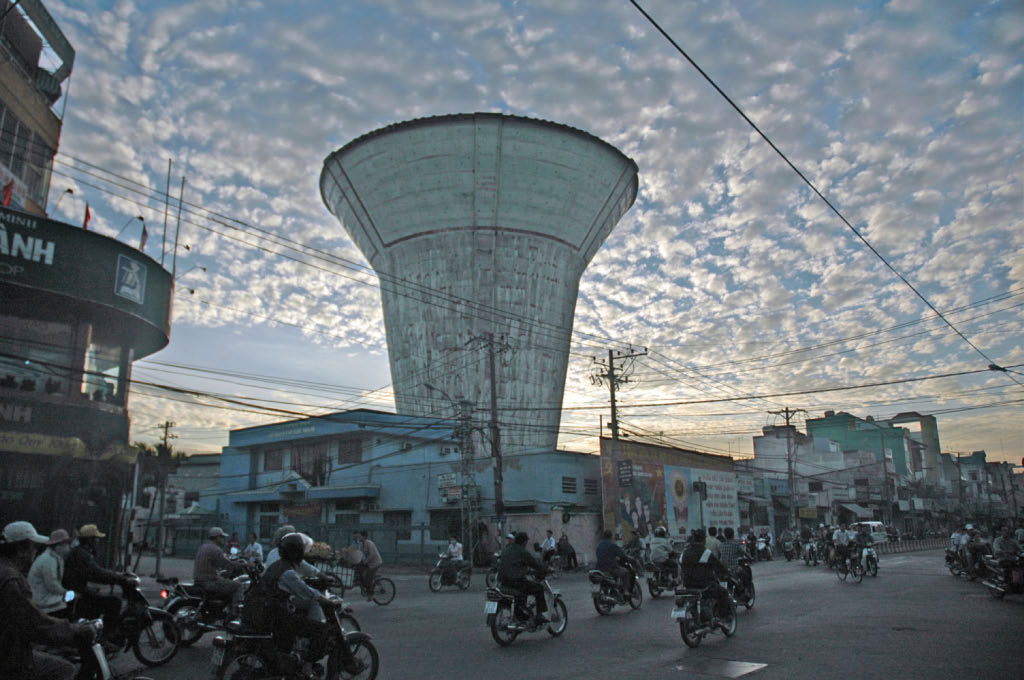 Ho Chi Minh City: commuters at dawn