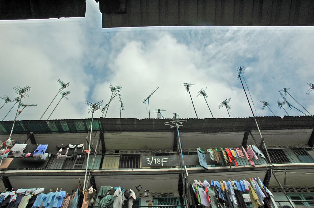 Ho Chi MInh City: laundry and aerials