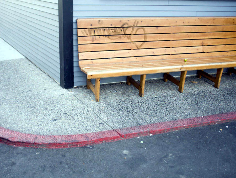 Dana Point: a lightly tagged bench