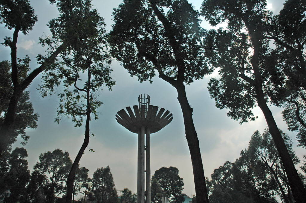 Ho Chi Minh City: water tower and trees