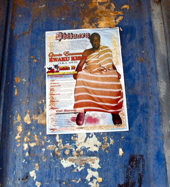 Accra: death poster norms