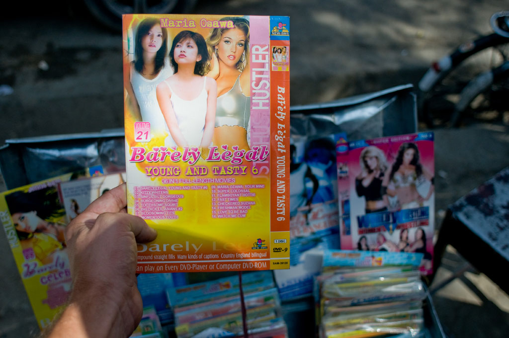 Kabul: openly sold porn