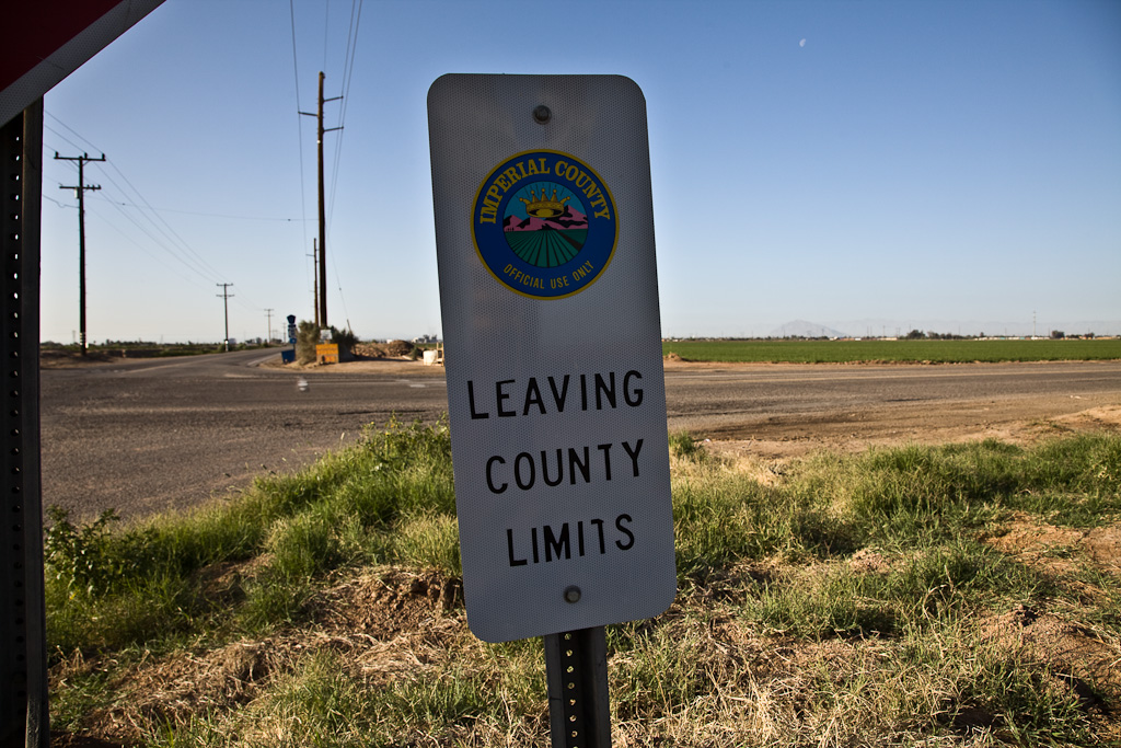 Imperial County: leaving