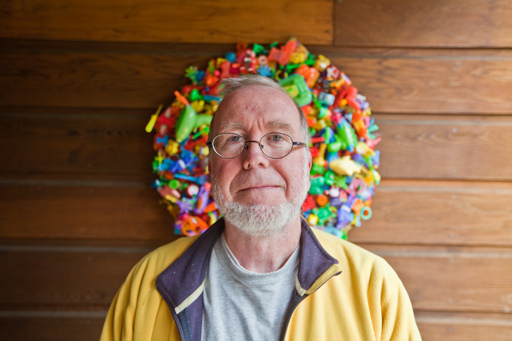 Pacifica: Kevin Kelly and toy wreath