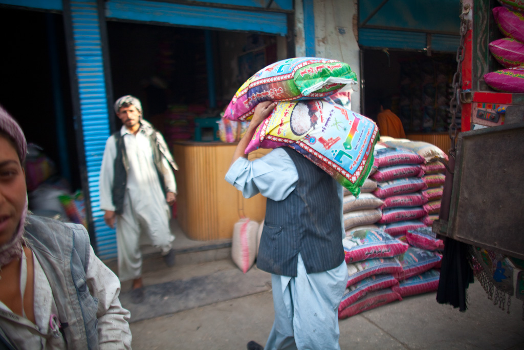 Mazar e Sharif: grain, merchants