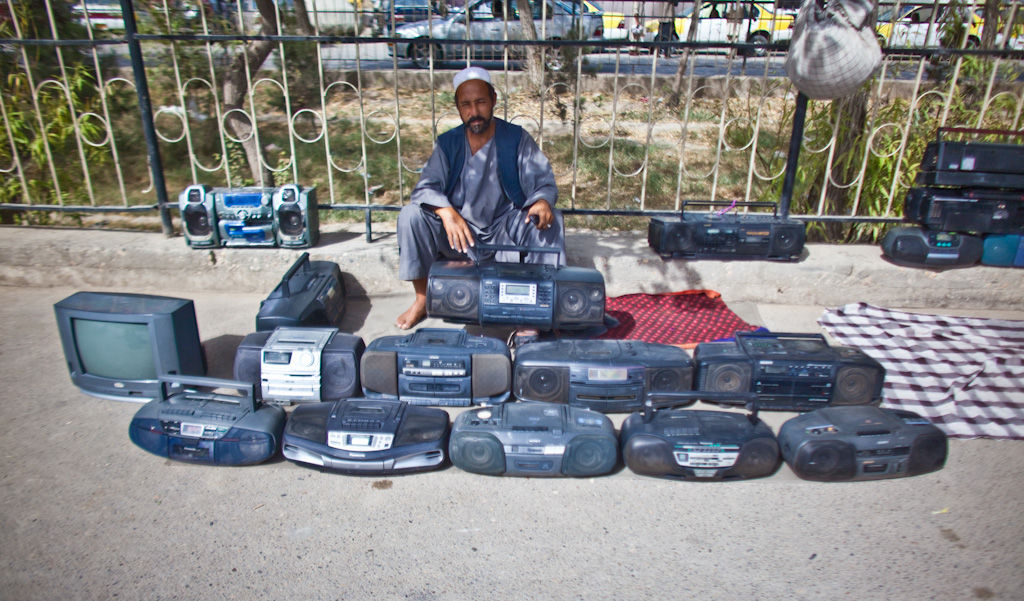 Mazar e Sharif: boom box sale