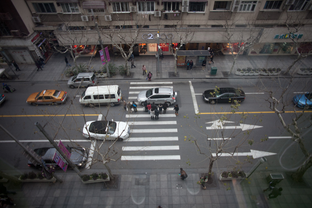 Shanghai: which is parked and which is driving