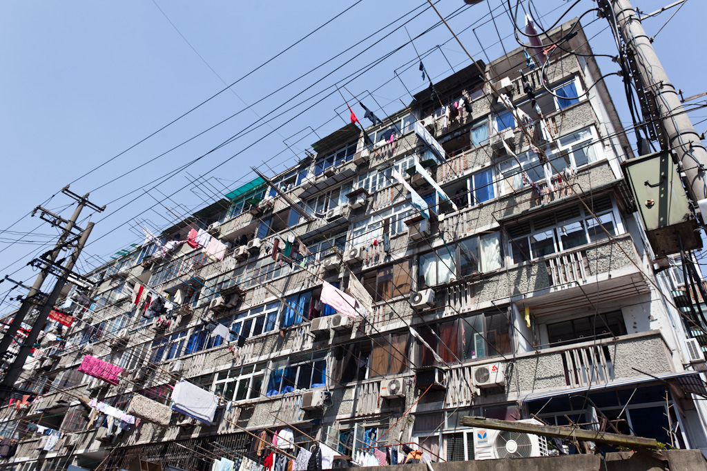 Shanghai: washing hanging
