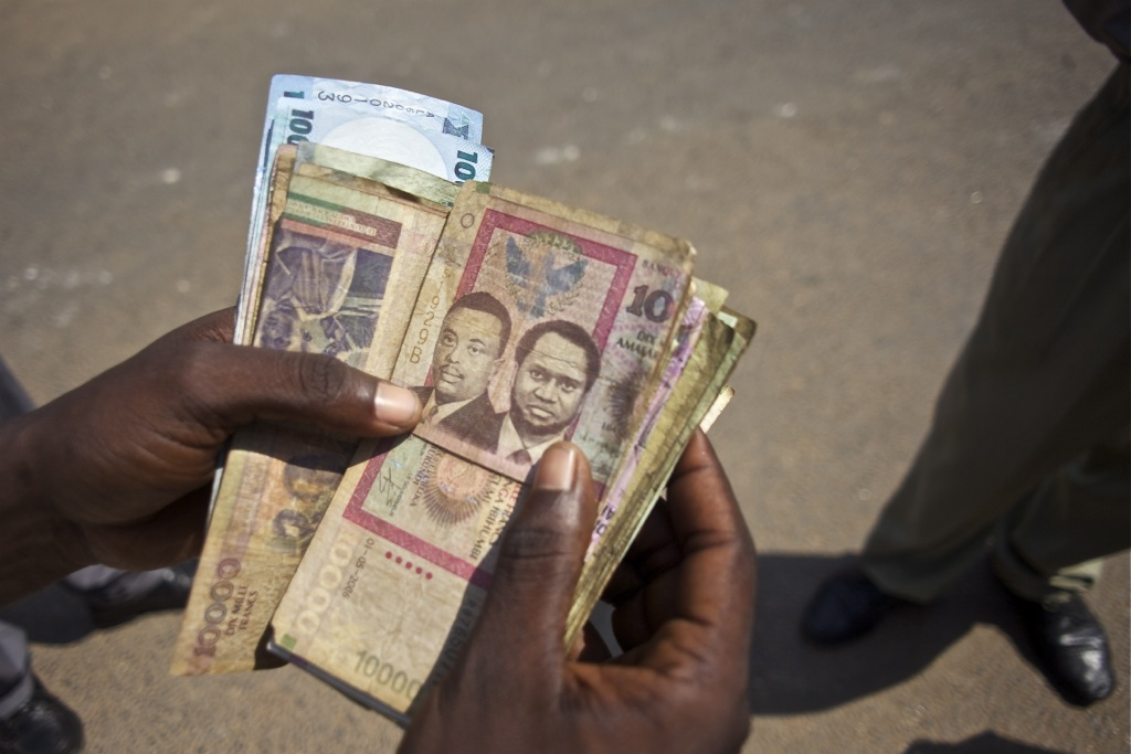 Burundi: money changed