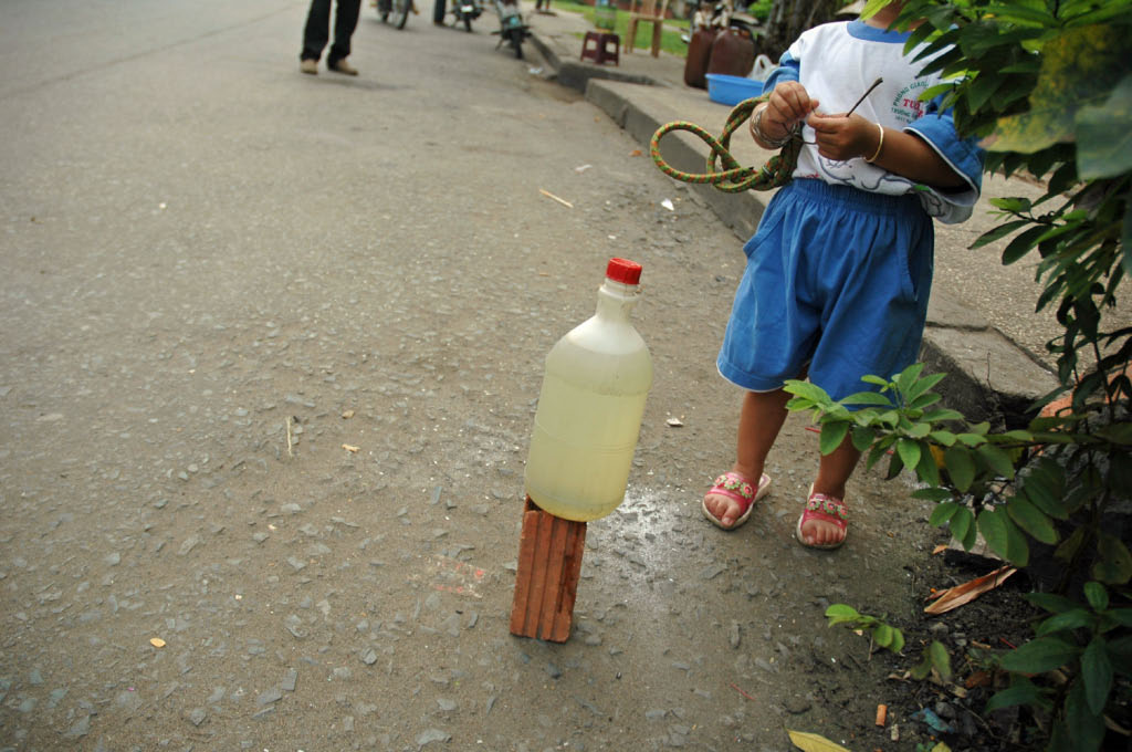 Ho Chi Minh City: bottle on a brick