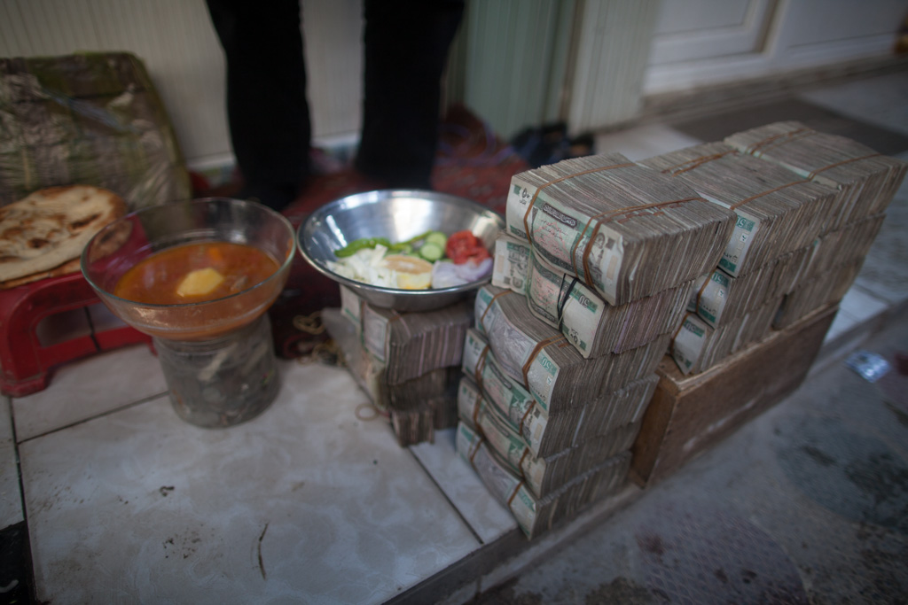 Kabul: food & money