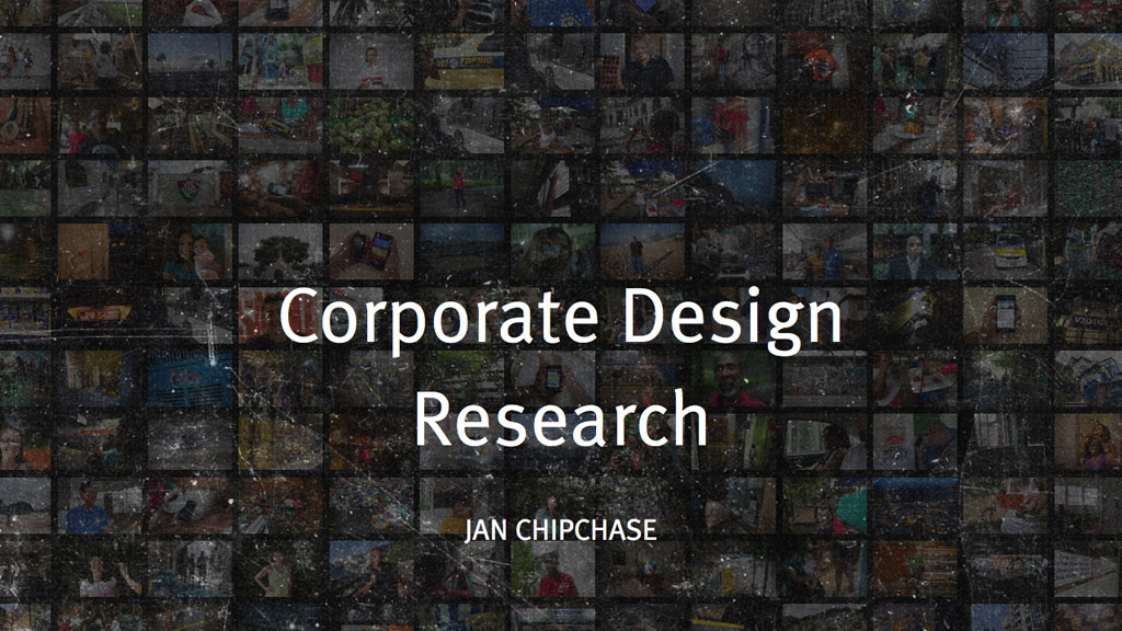 Presentation: Corporate Design Research