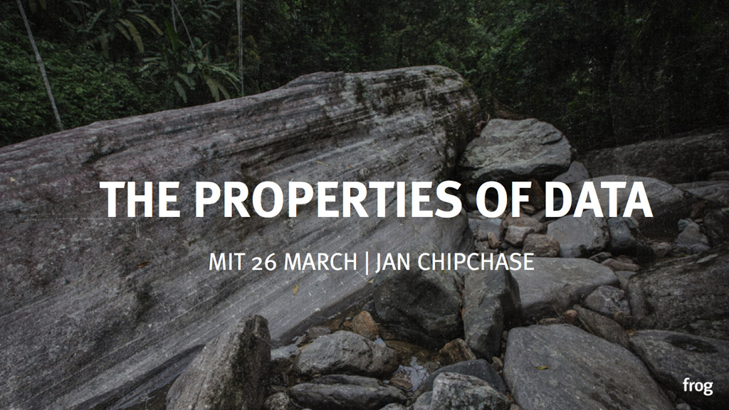 Presentation: The Properties of Data